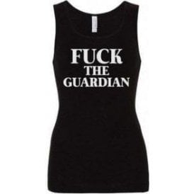 F*ck The Guardian (As Worn By Morrissey, The Smiths) Womens Baby Rib Tank Top