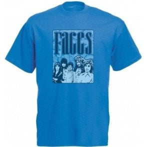 Faces 70's Collage Vintage Wash T-Shirt