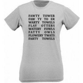 Fawlty Towers Anagrams Womens Slim Fit T-Shirt