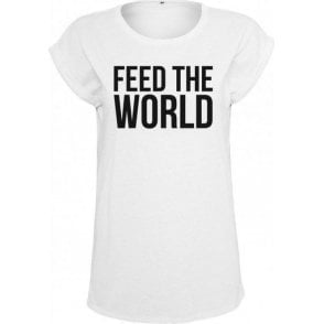 Feed The World (As Worn By David Bowie) Womens Extended Shoulder T-Shirt
