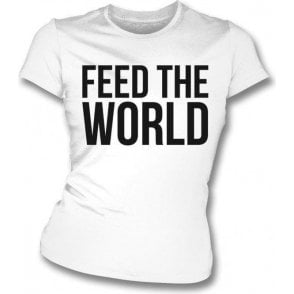 Feed The World (As Worn By David Bowie) Womens Slim Fit T-Shirt