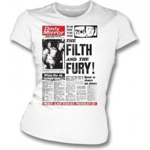 Filth and Fury Punk Girl's Slim-Fit T-shirt