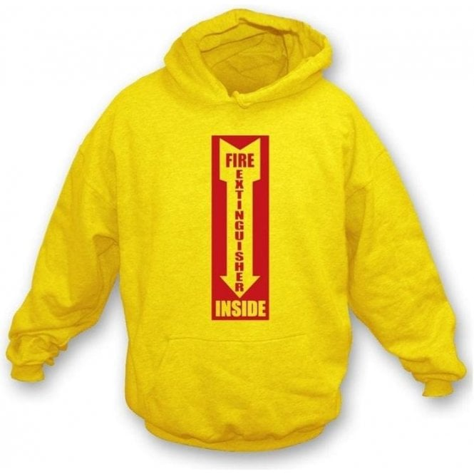 Fire Extinguisher Inside Hooded Sweatshirt