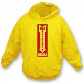 Fire Extinguisher Inside Hooded Sweatshirt