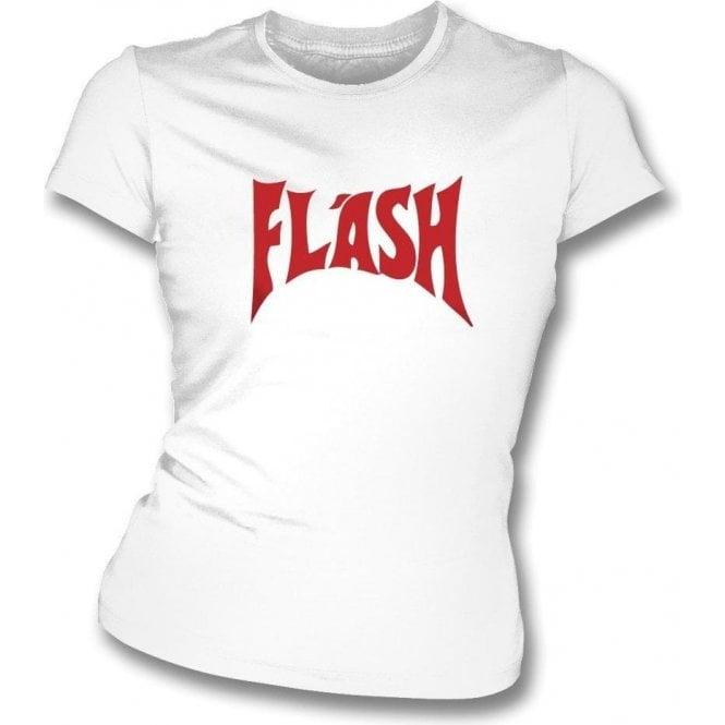 61997e9d Flash (As Worn By Freddie Mercury, Queen) Womens Slim Fit T-Shirt - from  TShirtGrill UK