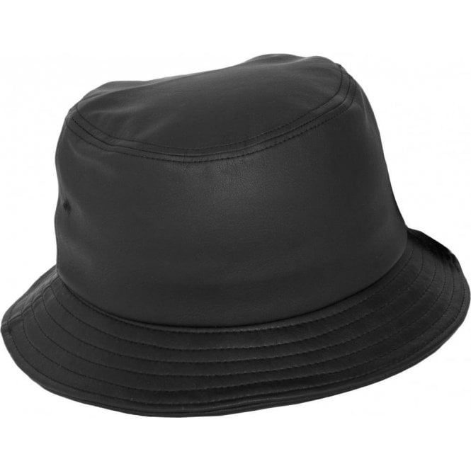 Flexfit Full Imitation Leather Bucket Hat