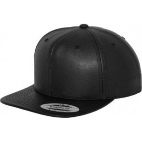 Flexfit Full Leather Imitation Snapback