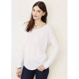 Flowy Long Sleeve T-Shirt with 2x1 Sleeves