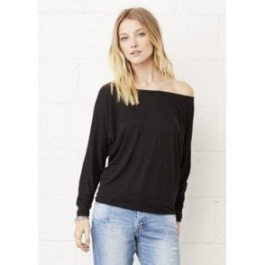 Flowy Off-The-Shoulder Long Sleeve T-Shirt