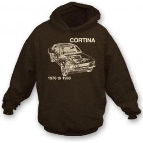 Ford Cortina hooded sweatshirt