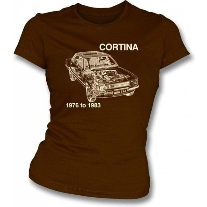 Ford Cortina Womens slimfit t-shirt