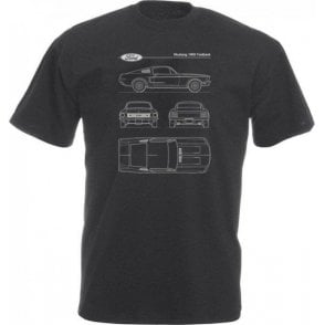 Ford Mustang 1968 Fastback Vintage Wash T-Shirt