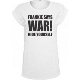 Frankie Says War! Hide Yourself (As Worn By Frankie Goes To Hollywood) Womens Extended Shoulder T-Shirt