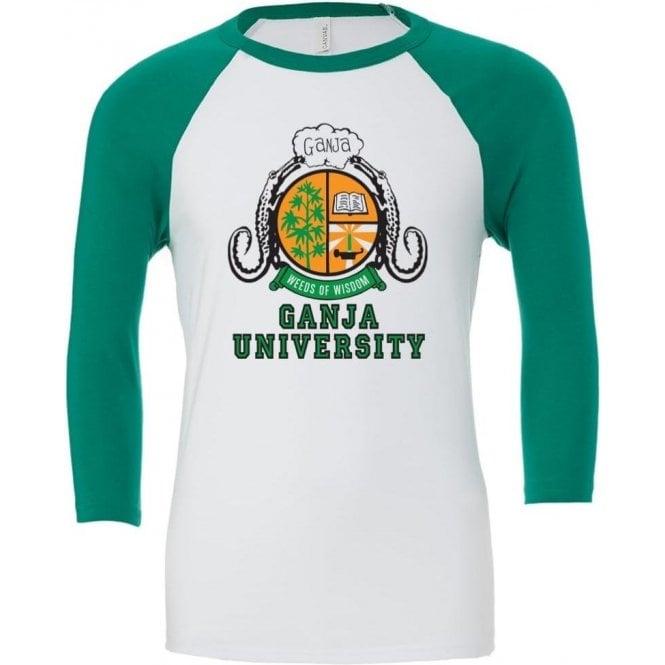 Ganja University (As Worn By Bob Marley) 3/4 Sleeve Unisex Baseball Top
