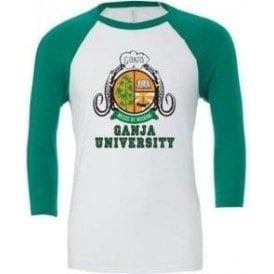 Ganja University (As Worn By Bob Marley) 3/4 Sleeve Unisex Baseball Top