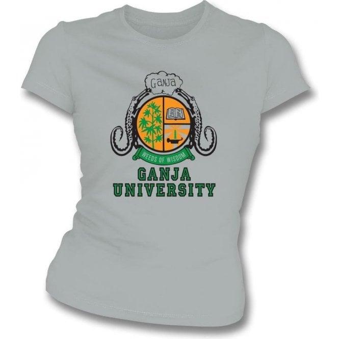 Ganja University (As Worn By Bob Marley) Womens Slim Fit T-Shirt