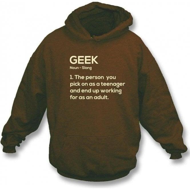 Geek Definition Hooded Sweatshirt
