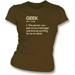 Geek Definition Womens Slim Fit T-Shirt