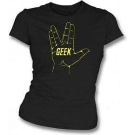 Geek (Inspired by Star Trek) Womens Slim Fit T-Shirt