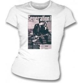 Generation X Punk Fanzine Womens Slim Fit T-Shirt