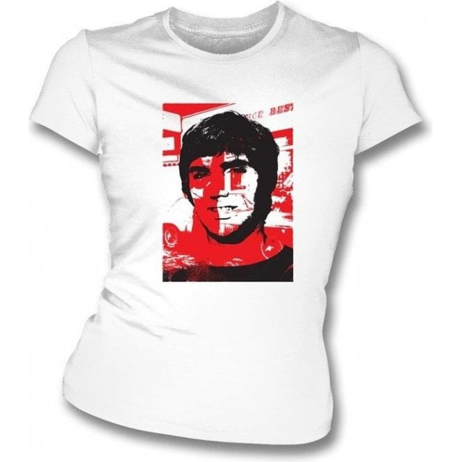 George Best Collage Women's Slimfit T-Shirt