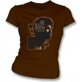 Gill Scott Heron The Revolution will not be televised Women's Slimfit T-shirt