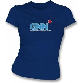 GNN 24 Hour News (Anchorman 2) Womens Slim Fit T-Shirt