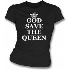 God Save The Queen Bee (As Worn By Chrissie Hynde, The Pretenders) Womens Slim Fit T-Shirt