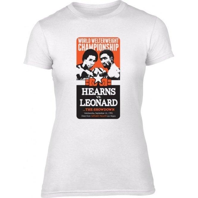 Hearns vs. Leonard: The Showdown Womens Slim Fit T-Shirt