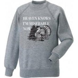 Heaven Knows I'm Miserable Now (Morrissey Turkey) Kids Christmas Jumper