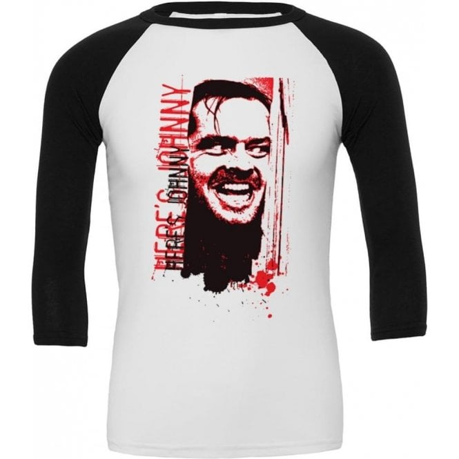 Here's Johnny! (Inspired By The Shining) 3/4 Sleeve Unisex Baseball Top