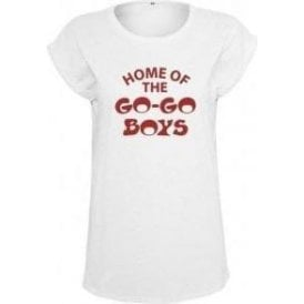 Home Of The Go-Go Boys (As Worn By Debbie Harry, Blondie) Womens Extended Shoulder T-Shirt