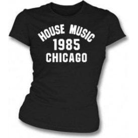 House Music 1985 Chicago Womens Slim Fit T-Shirt