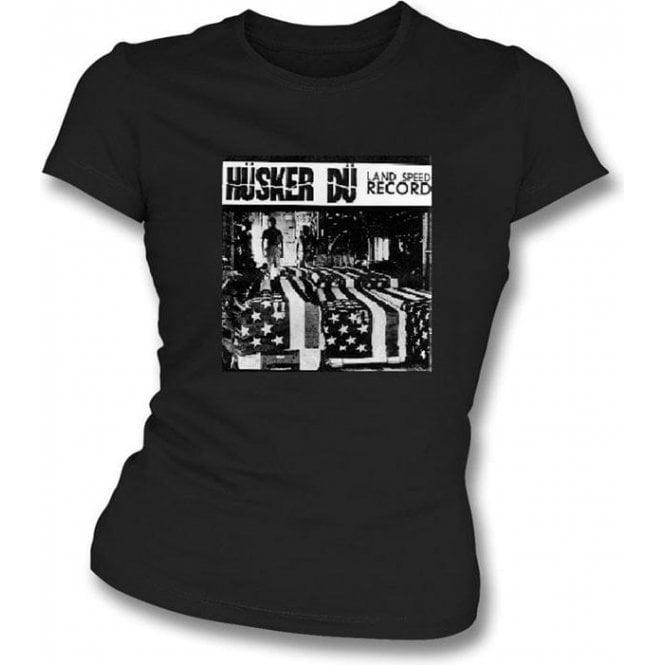 Husker Du Land Speed Record Girl's Slim-Fit T-shirt