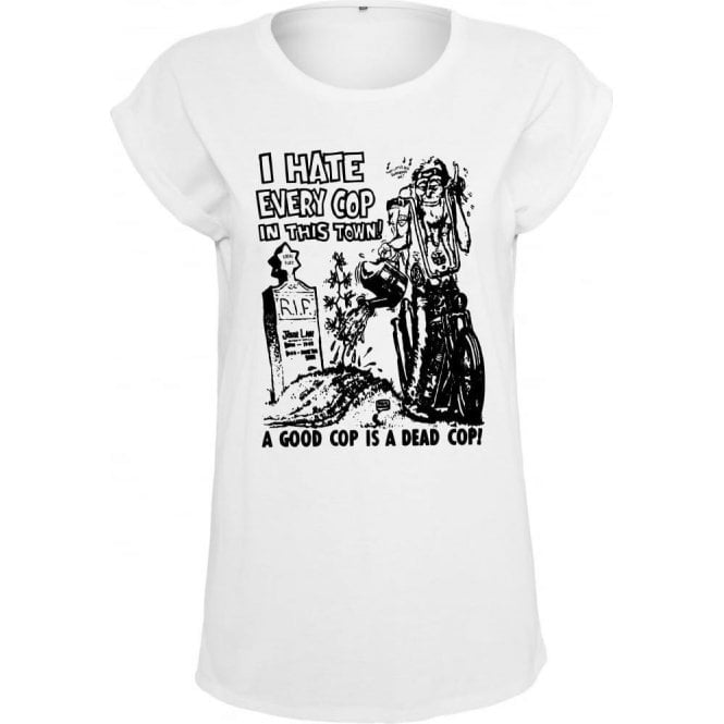 I Hate Every Cop In This Town (As Worn By Nick Cave, The Bad Seeds) Women's Extended Shoulder T-Shirt