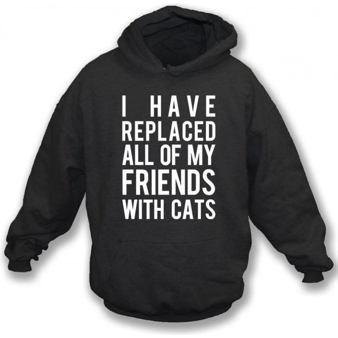 I Have Replaced All Of My Friends With Cats Kids Hooded Sweatshirt