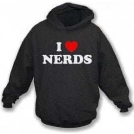 I Heart Nerds (As Worn By Shirley Manson, Garbage) Hooded Sweatshirt