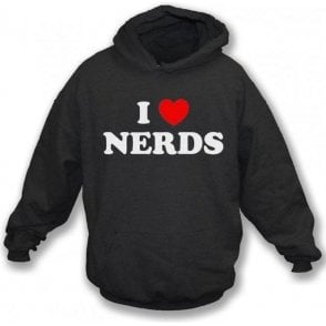 I Heart Nerds (As Worn By Shirley Manson, Garbage) Kids Hooded Sweatshirt
