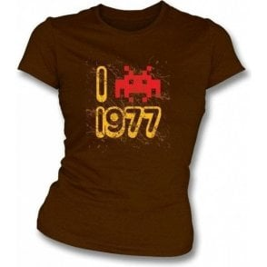 I Love 1977 Girl's Slim-Fit T-shirt