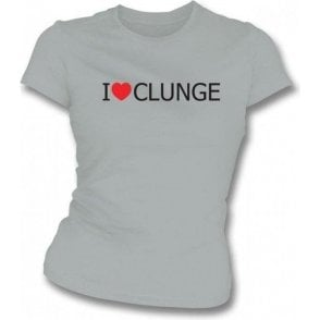 I Love Clunge (The Inbetweeners) Womens Slim Fit T-Shirt