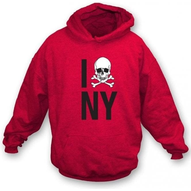 I Love New York Skull Hooded Sweatshirt