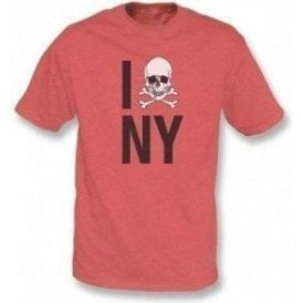I Love New York Skull Mens Vintage T-shirt