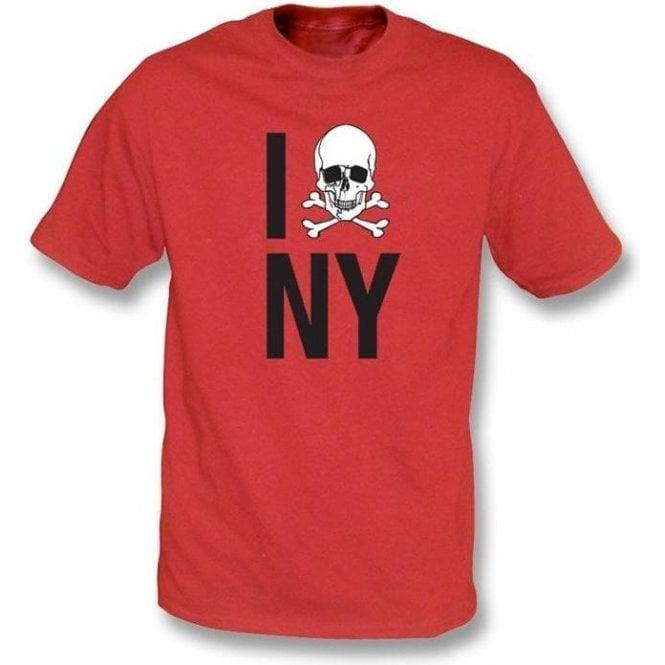 I Love New York Skull T-shirt