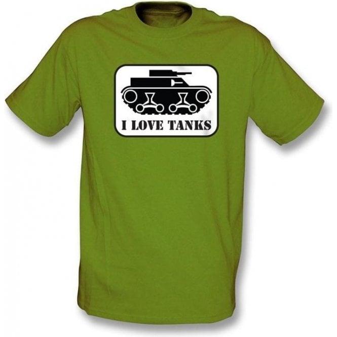 I Love Tanks T-shirt