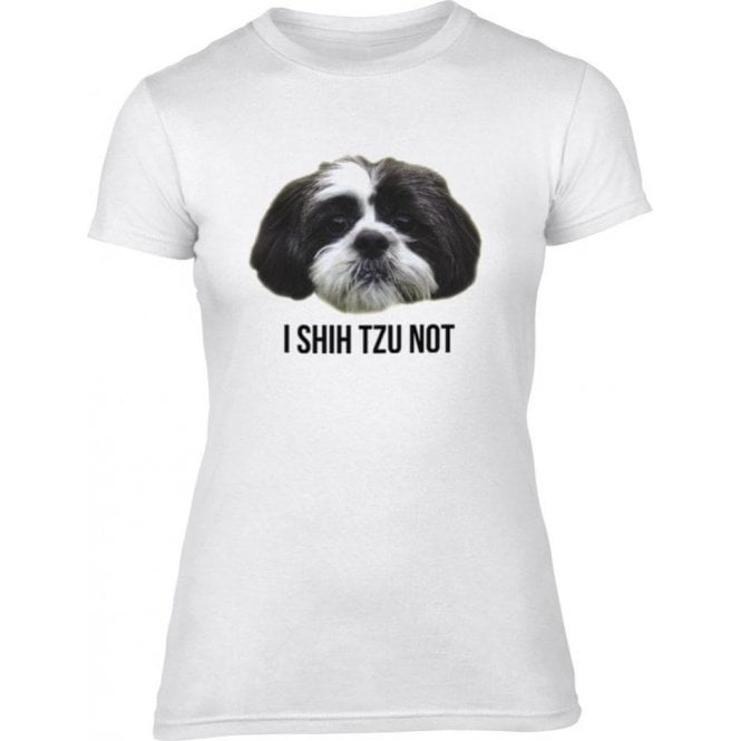 I Shih Tzu Not Womens Slim Fit T-Shirt