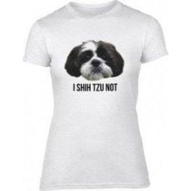 I Shih Tzu Not Womens Slim Fit T-Shirt