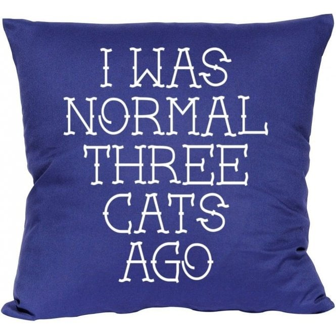 I Was Normal Three Cats Ago Cushion