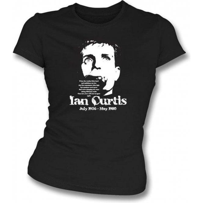 Ian Curtis - Tribute Girls Slim-Fit T-shirt
