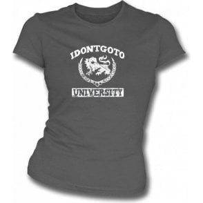 Idontgotouniversity Logo Girl's Slim-Fit T-shirt