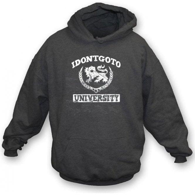 Idontgotouniversity Logo Hooded Sweatshirt